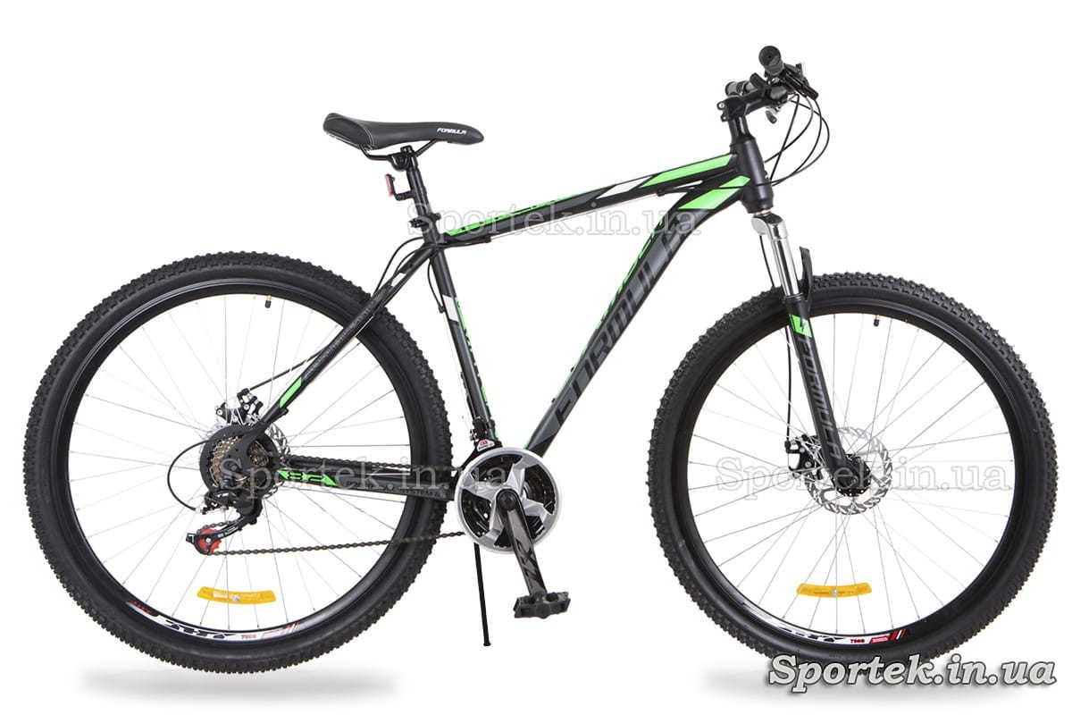 Чорно-салатовий гірський чоловічий велосипед Formula Atlant DD (Формула Атлант)