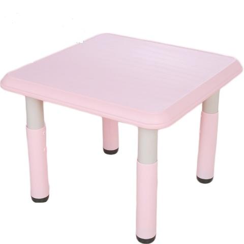 Пластиковый регулируемый квадратный стол, 60х60см, розовый