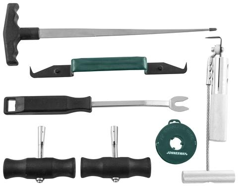 AB010002 Комплект для демонтажа лобовых стекол, 7 предметов