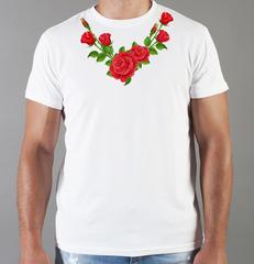 Футболка с принтом Цветы (Розы) белая 0025