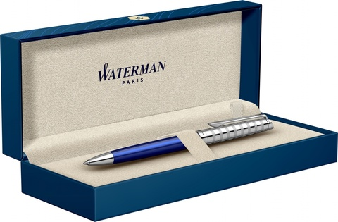 Шариковая ручка Waterman Hemisphere French riviera Deluxe BLU LOUNGE в подарочной коробке123
