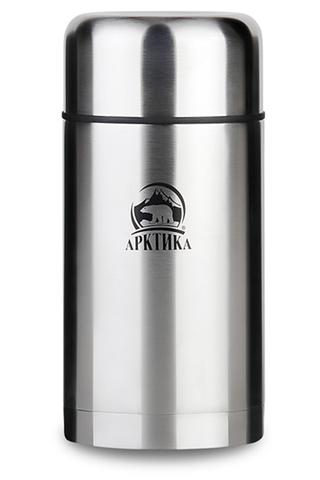 Термос для еды Арктика (1 литр) с супер-широким горлом, стальной