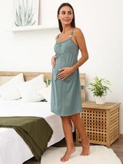 Мамаландия. Сорочка для беременных и кормящих, хаки