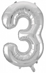 К 34''/86см, Цифра 3, Серебро.