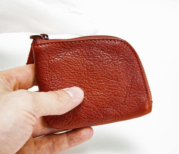 WL341-3 Кожаный мини кошелек красного цвета фото 04