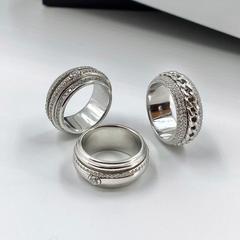 10789- Кольцо из серебра с крутящейся серединой