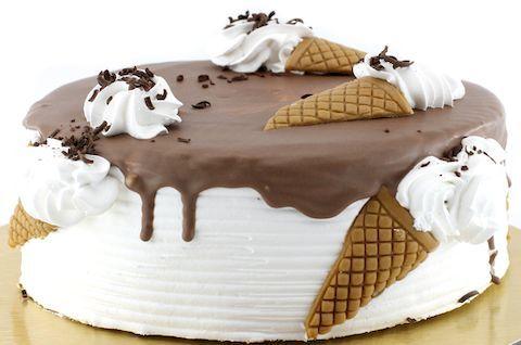 Безглютеновый торт Пломбир с шоколадной глазурью