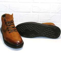 коричневые молодежные зимние ботинки мужские