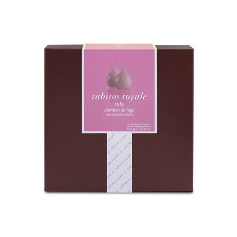 Конфеты Инжир в рубиновом шоколаде с трюфельной начинкой и ликером Marc de Cava Rabitos 142 г  8 конфет