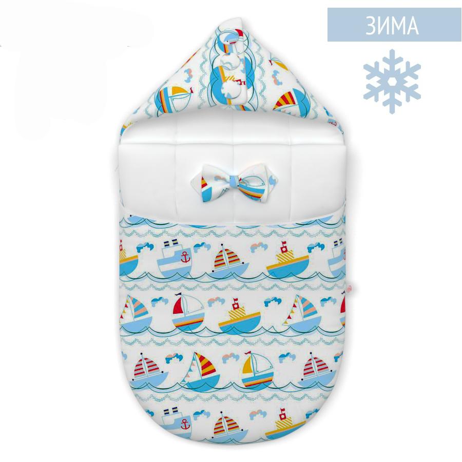 Конверты на выписку Конверт нового поколения Farla Joy Кораблики зима Joy_krbl-W.png