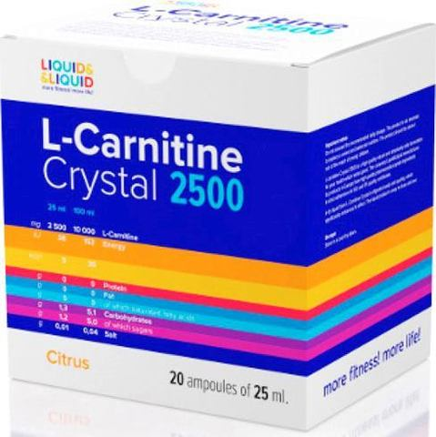 L- карнитин Liquid & Liquid L-Carnitine Crystal 2500 (20 х 25)