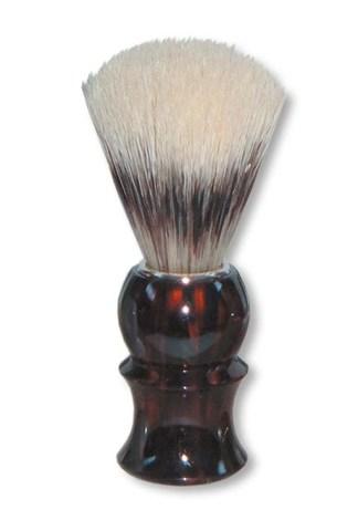 Помазок для бритья Mondial, пластик, ворс барсука, рукоять - цвет темно-коричневый