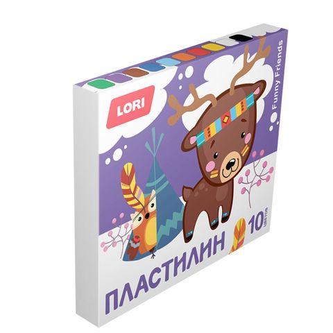 Пластилин LORI Funny Friends 10 цв Плф-002 РОССИЯ