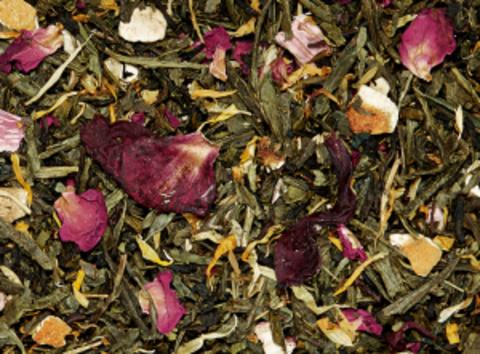 Зеленый чай Сверкающий ревень (ревень-апельсин)