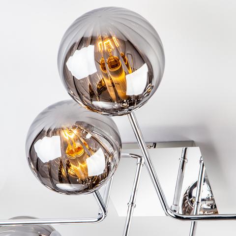 Потолочный светильник с круглыми стеклянными плафонами 30140/8 хром