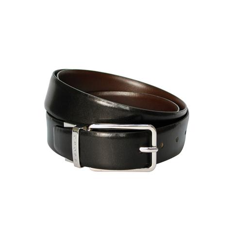 Ремень Cross Santiago  (AC318494) двухсторонний кожа наппа гладкая чёрный/коричневый 134х35 см