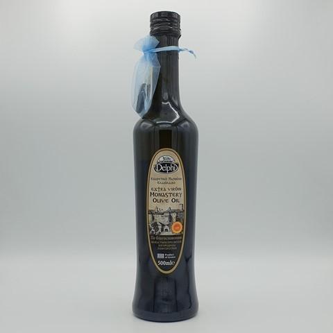 Масло оливковое Extra Virgin Монастырское P.D.O. DELPHI, 500 мл