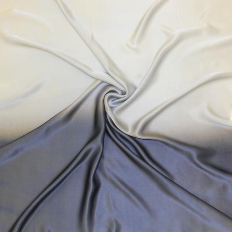 Шелковый платок батик Графит С-86