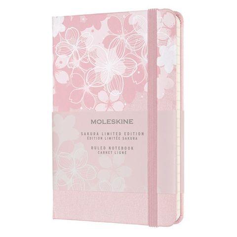 Блокнот Moleskine LE Sakura LESU03MM710 Pocket 90x140мм обложка текстиль 192стр. линейка темно-розовый