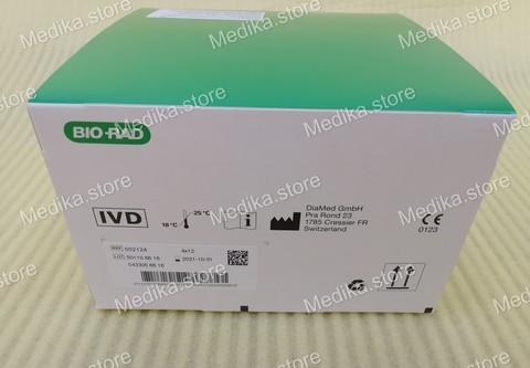 002124 ID ДиаКлон Rh фенотип + K (ID DiaClon Rhsubgroups + K), 48 карт /ДиаМед ГмбХ, Швейцария/DiaMed GmbH, Switzerland