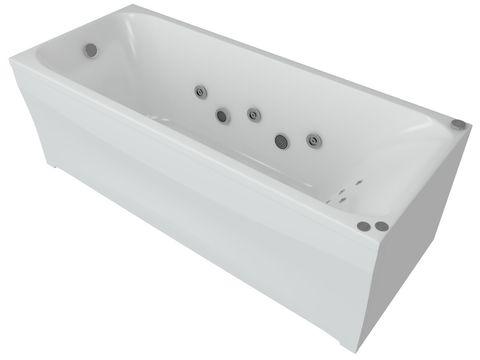 Ванна акриловая Aquatek Альфа  150х70см. на каркасе и сливом-переливом.