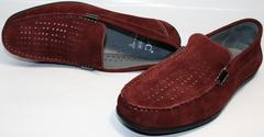 Мужские мокасины IKOC 1555-3 Red.