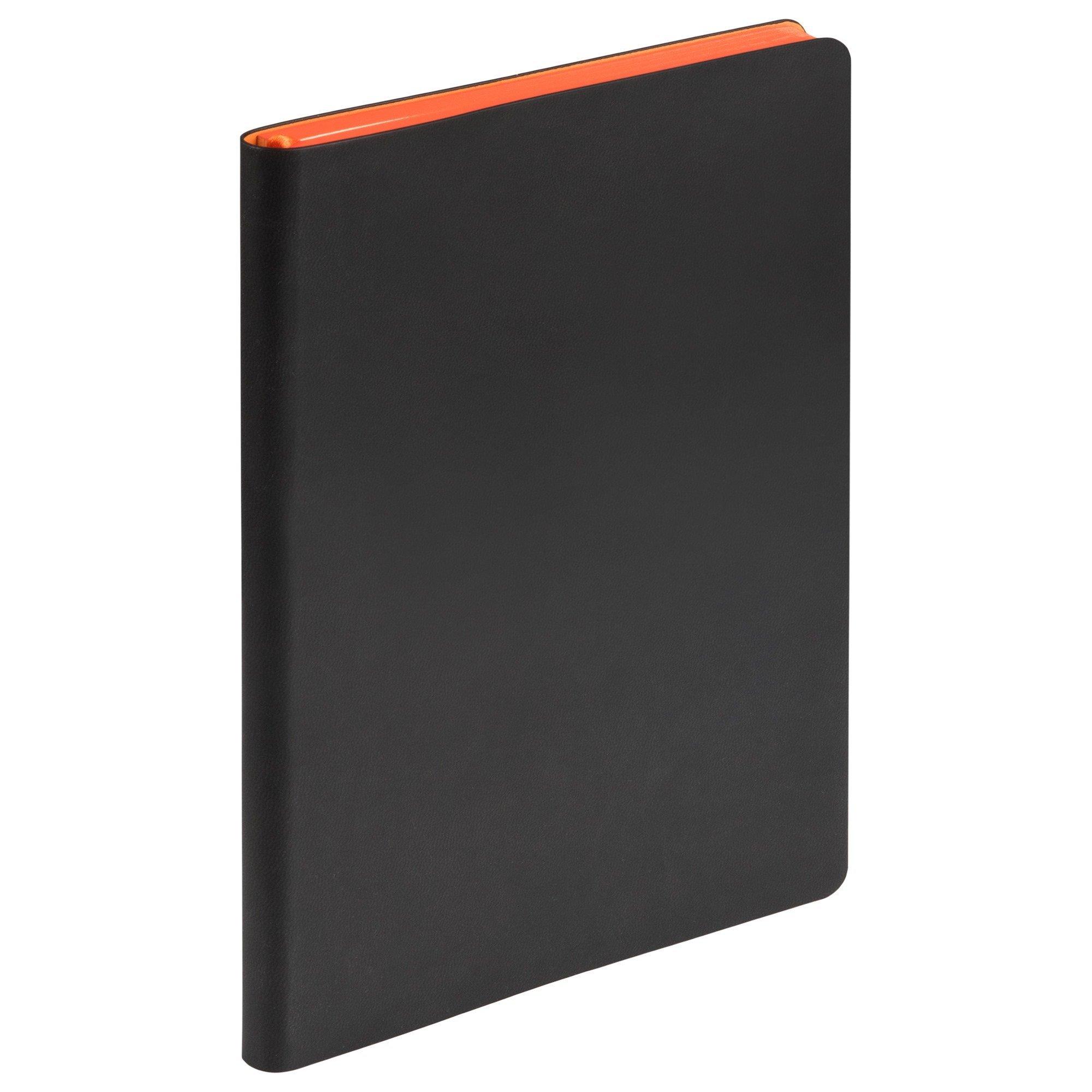 Ежедневник недатированный, Portobello Trend, Latte NEW, 145х210, 256 стр, черный/оранжевый