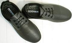 Модные мужские летние туфли с перфорацией Ridge Z-430 75-80Gray.