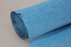 Бумага гофрированная простая голубая (556)