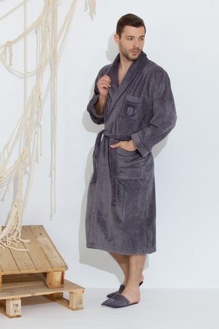 BOSWELL-БОСВЭЛЛ мужской  халат с тапочками  Maison Dor Турция