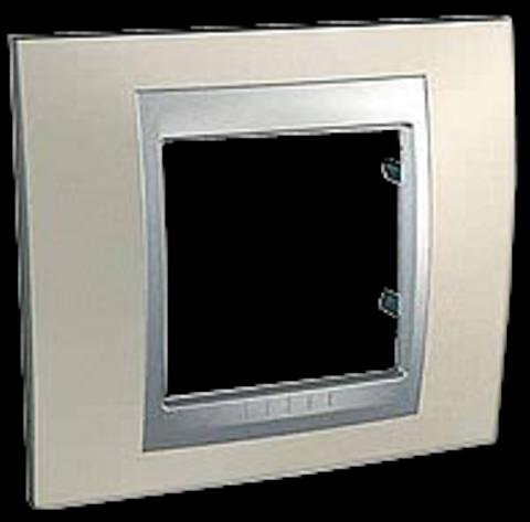 Рамка на 1 пост. Цвет Опал-алюминий. Schneider electric Unica Top. MGU66.002.095
