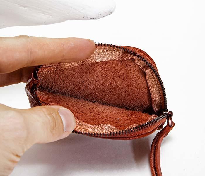 WL341-3 Кожаный мини кошелек красного цвета фото 06