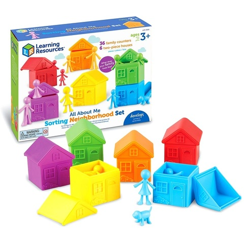 LER3369 Игровой набор фигурок Моя семья с домиками для сортировки Learning Resources