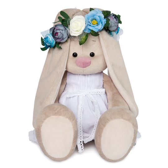 Зайка Ми в белом платье и веночке (большая)