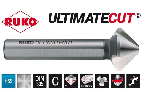 Зенковка ц/х 90° 10,4мм (DIN74BF M5) DIN335C 3z HSSE-Co5 RunaTec UltimateCut Ruko 102774EP