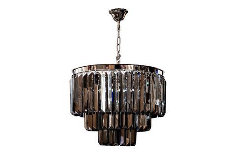 15-D6901-9NI Светильник потолочный d52*45см с дымч. кристаллами