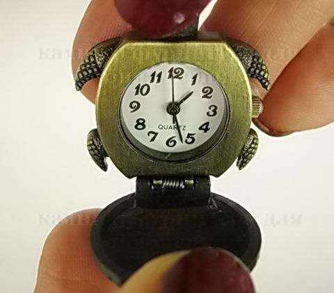 """Часы на цепочке """"Черепашка"""" (цвет - античная бронза) 43х29Х14 мм ()"""