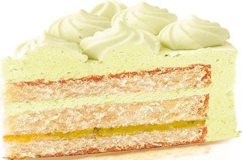 Кусок торта Пломбир без глютена и сахара с фисташковым кремом