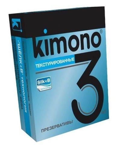 Текстурированные презервативы KIMONO - 3 шт.