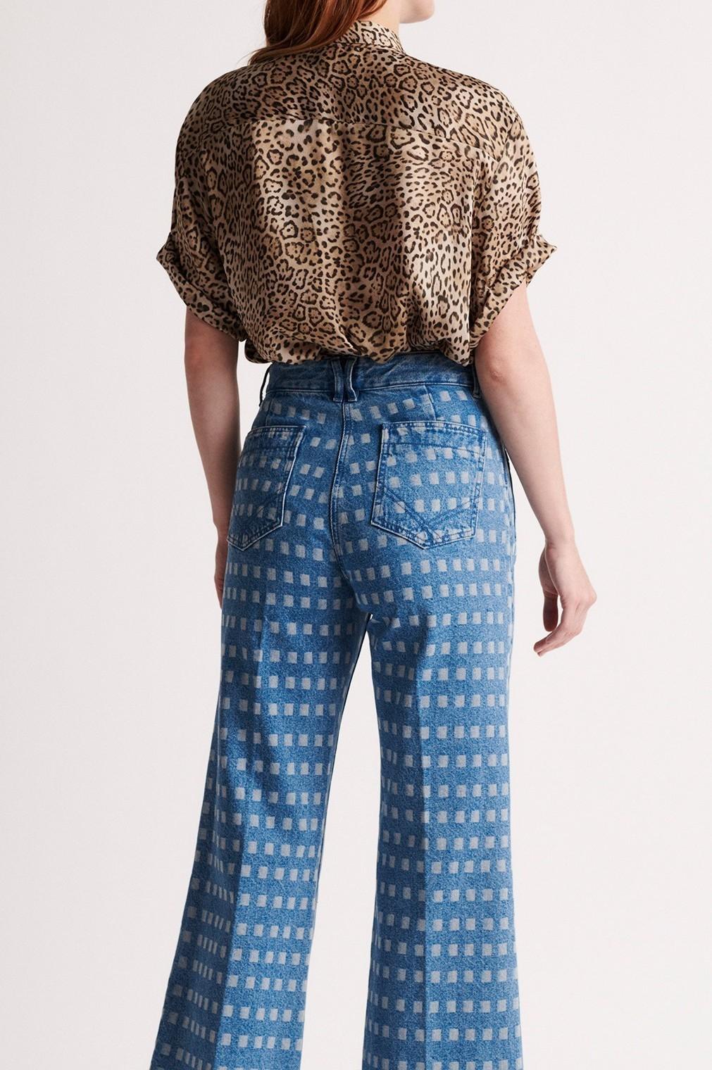 Блуза с леопардовым принтом