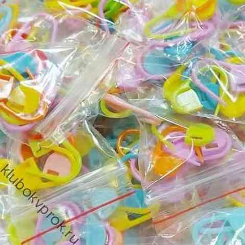 Маркер для вязания пластиковый, 10 шт