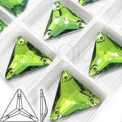 Стразы пришивные Triangle Peridot, Треугольник Перидот, зеленый купить оптом на StrazOK.ru