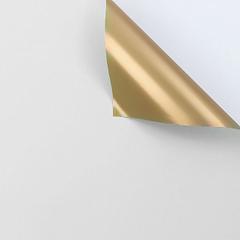Пленка для цветов матовая двухсторонняя, Золото/Белый, 58*58 см, 10 листов, 1 уп.