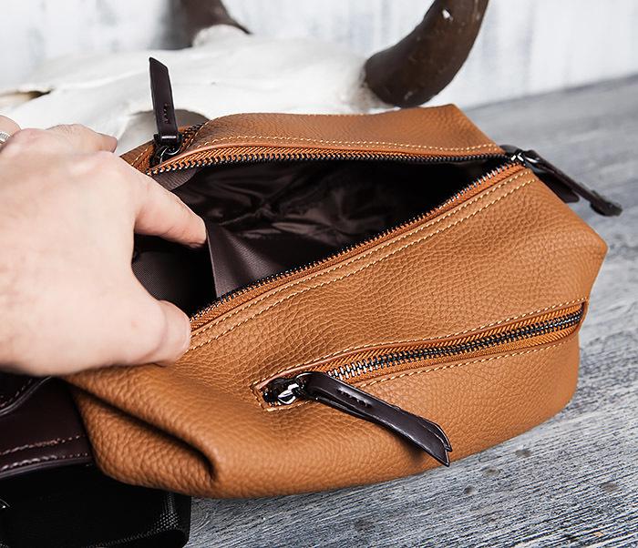 BAG422-2 Мужская сумка из кожи за спину с одной лямкой фото 10