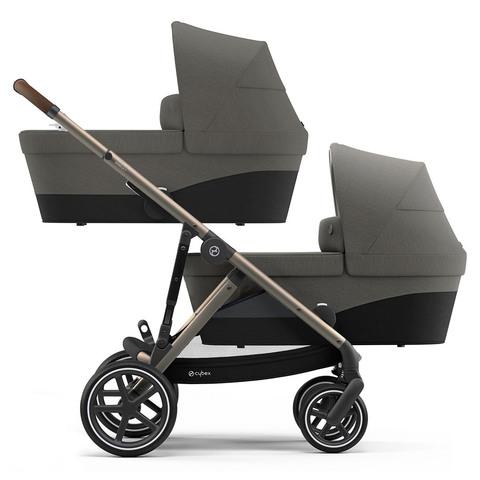Детская коляска для двойни Cybex Gazelle S 2 в 1 TPE Soho Grey