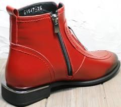 Осенние ботинки лоферы женские Evromoda 1481547 S.A.-Red