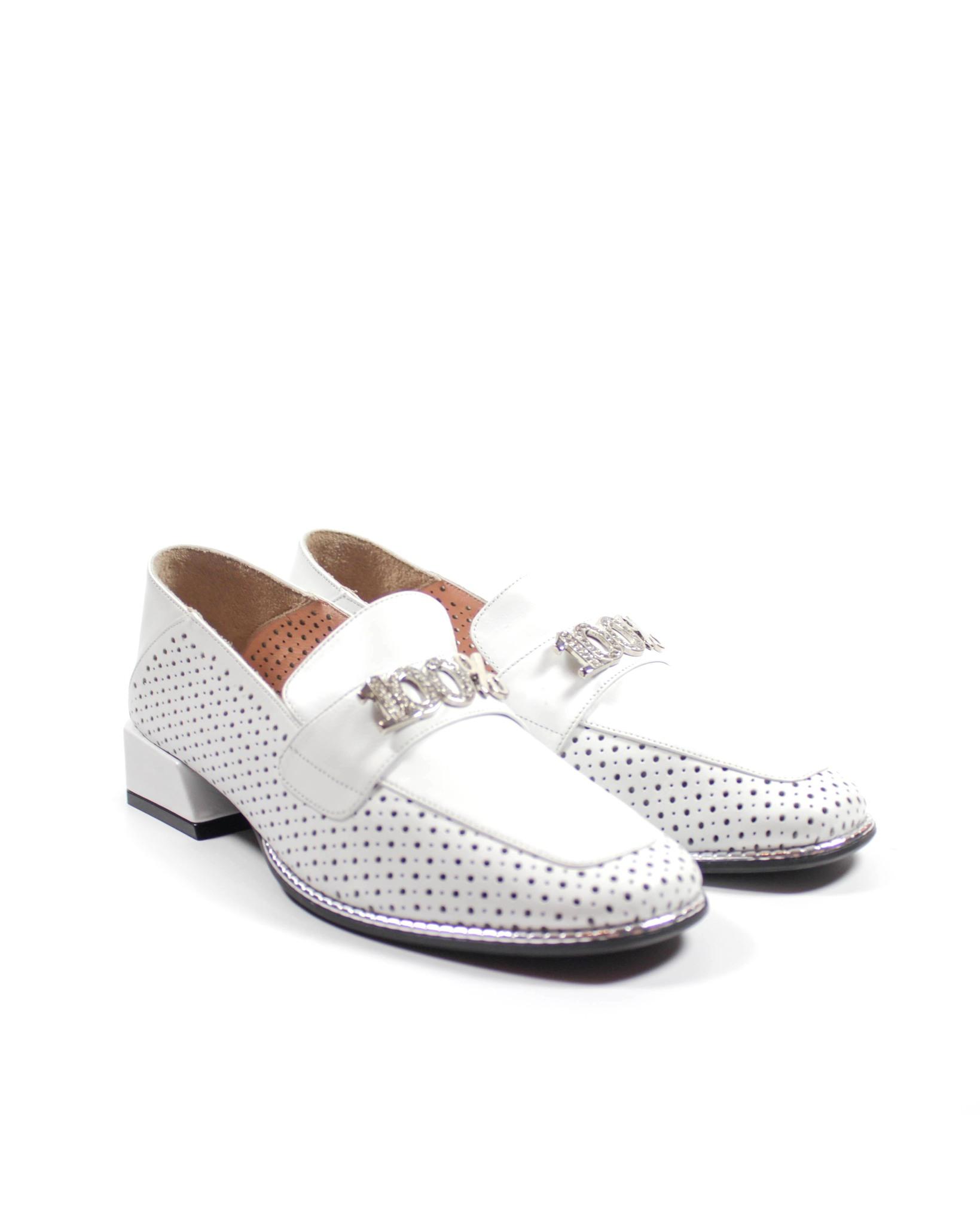 белые туфли SM