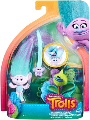 Игровой набор  Trolls Satin Hair Raising With Baby