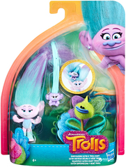 Игровой набор  Trolls Satin Hair Raising With Baby