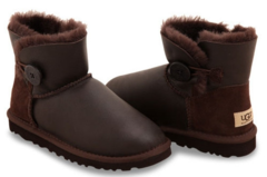 UGG Mini Bailey Button Metallic Chocolate